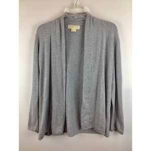 Michael Kors knit open front long sleeves cover up